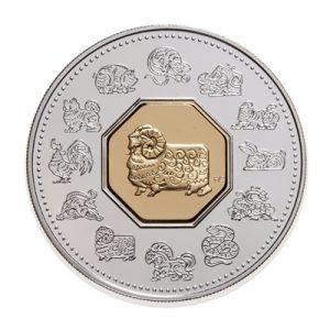 2003 Année du bouc – Ensemble pièce en argent + timbres