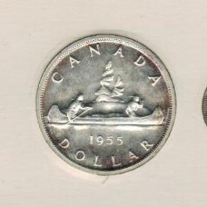 1955 Ensemble hors-circulation de la monnaie royale canadienne