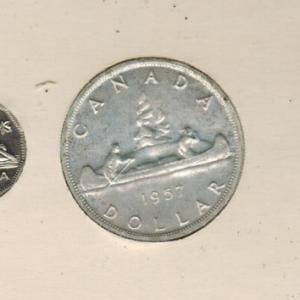 1957 Ensemble hors-circulation de la monnaie royale canadienne