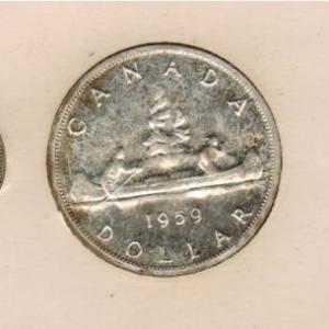 1959 Ensemble hors-circulation de la monnaie royale canadienne