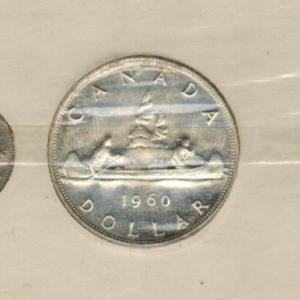 1960 Ensemble hors-circulation de la monnaie royale canadienne