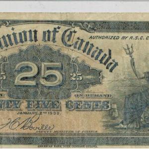 1900 twenty five cents VF – Dominion of Canada