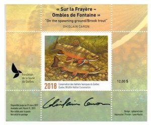 Timbre de la Fondation de la faune du Québec