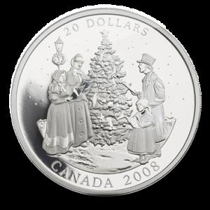 2008 Pièce en argent fin de 20$ – Chants des Fêtes