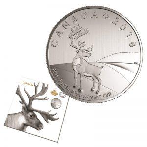 2018 Pièce de 3$ en argent fin – Caribou