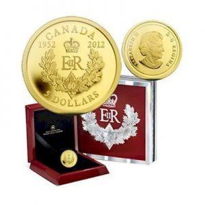 2012 pièce en or pur – Queen's Diamond Jubilee