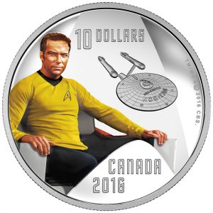 2016 colored coin in fine silver – Captain Kirk