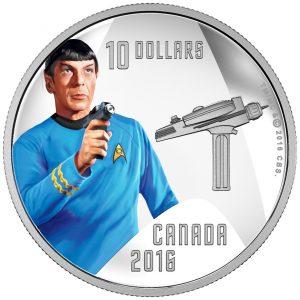 2016 Pièce colorée en argent pur – Spock