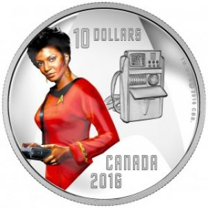 2016 colored coin in fine silver – Nyota Uhura