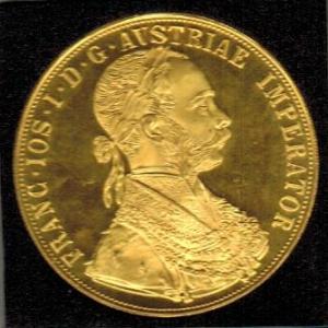 Autriche 4 ducat en or 1915