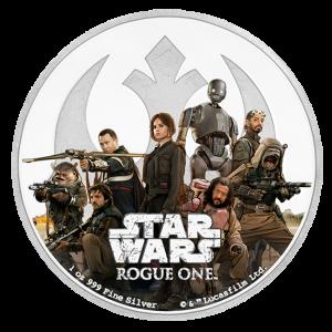 2017 Pièce Star Wars en argent fin – rebel alliance