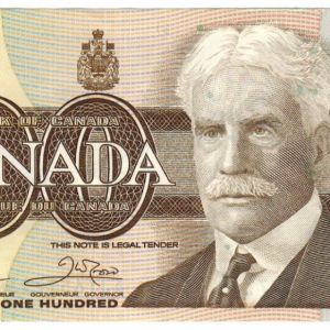 1988  One hundred dollar bill – Bank of Canada – UNC