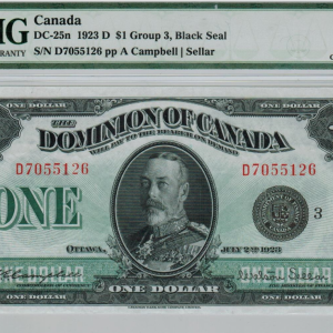 1923 banknote 1$ Dominion of Canada – choice VF 35