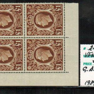 Roi George VI et Armoiries royales – Grande-Bretagne – 1939-1942