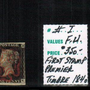 Reine Victoria – Premier timbre – 1840
