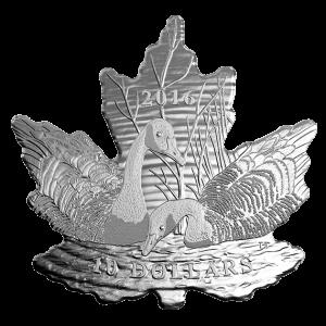 2016 fine silver coin 10$ – maole leaf silhouette
