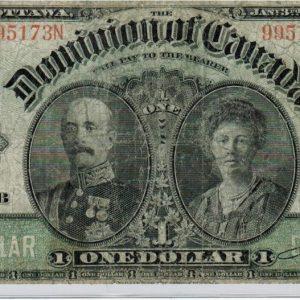 1911 Billet de 1$ (Fine) – Dominion du Canada