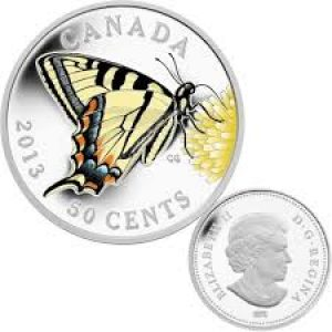 2013 50-cent Coin – Butterflies of Canada