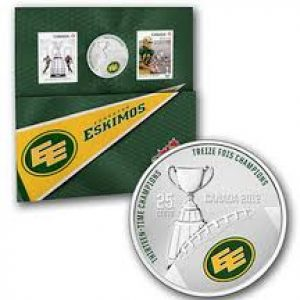 2012 Stamp and Coin Set – Edmonton Eskimos