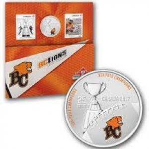 2012 Stamp and Coin Set – BC Lions