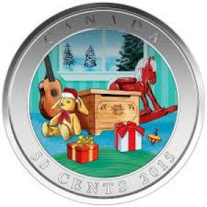2015 50 cent coin – Holiday Toy Box