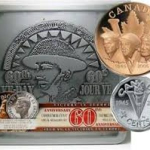 2005 5 cents and Medallion set – 60th anniversary VE-Day
