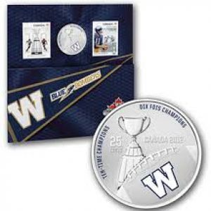 2012 Stamp and Coin Set – Winnipeg Blue Bombers