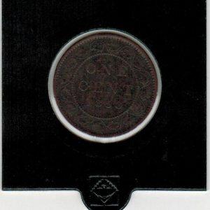 1858 – 1 cent – F+ – Canada