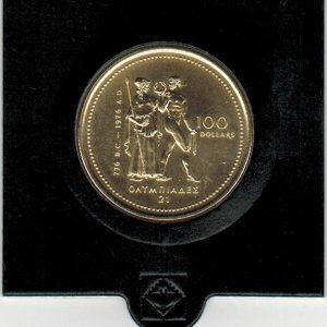1976 – 100 dollars – 14K – Olympic – Canada