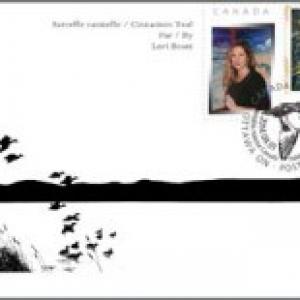 2014 Sarcelle cannelle d'après le tableau de Lori Boast
