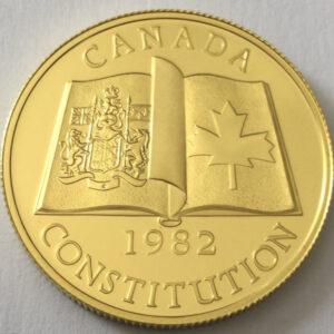 1982 – La légende « Canada » « Constitution »