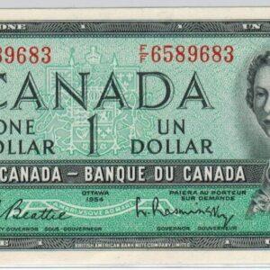 1954 – Billet de 1 dollar – UNC – Banque du Canada